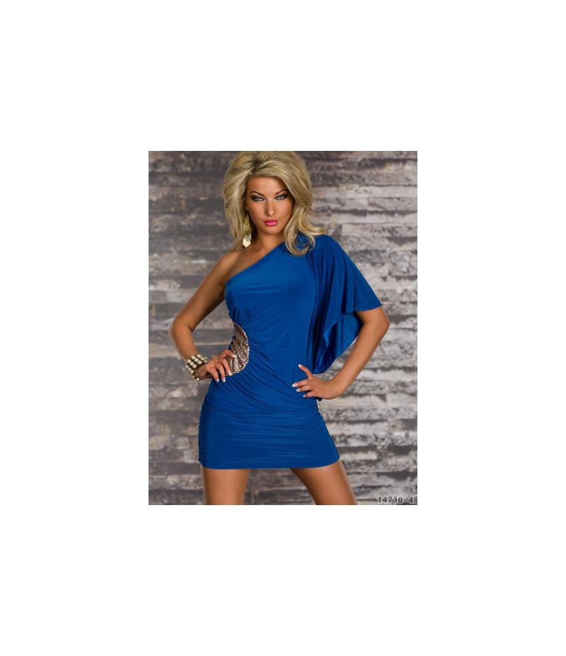 kleid no label one shoulder gr n all dresses. Black Bedroom Furniture Sets. Home Design Ideas