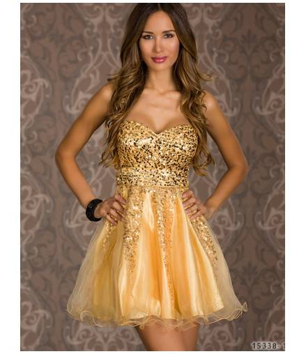 Kleid LB Collection -Prinzessin - Gold All Dresses