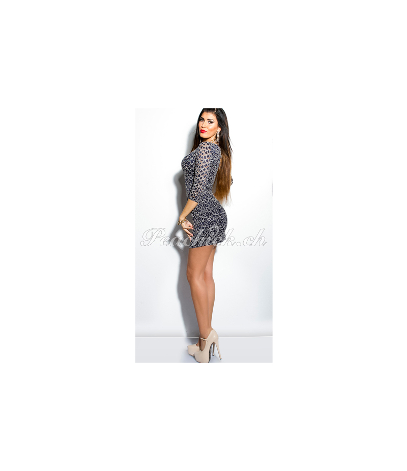 Minikleid In Stylefashion Spitze Dunkelblau All Dresses