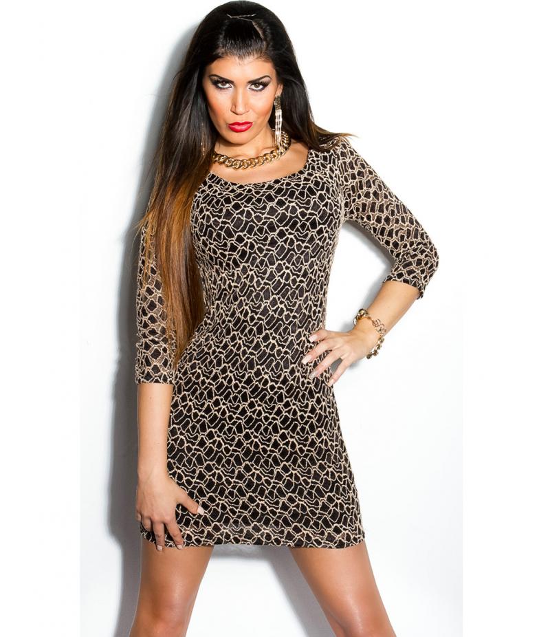 Minikleid In Stylefashion Spitze Schwarz All Dresses
