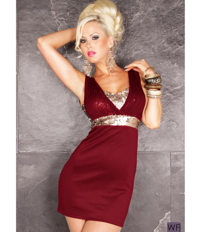 kleid kevin pailletten weiss gold all dresses. Black Bedroom Furniture Sets. Home Design Ideas