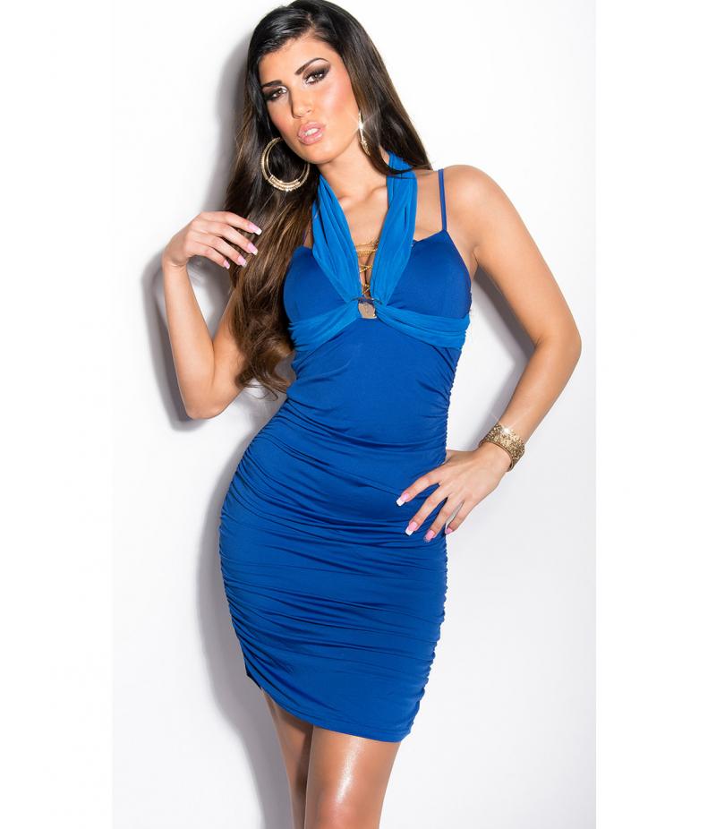 Kleid Koucla - Neckholder - Royalblau All Dresses