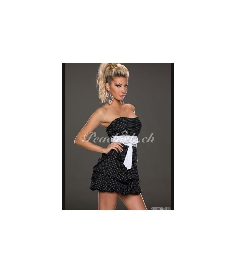 kleid pronto moda punkte weiss schwarz all dresses. Black Bedroom Furniture Sets. Home Design Ideas