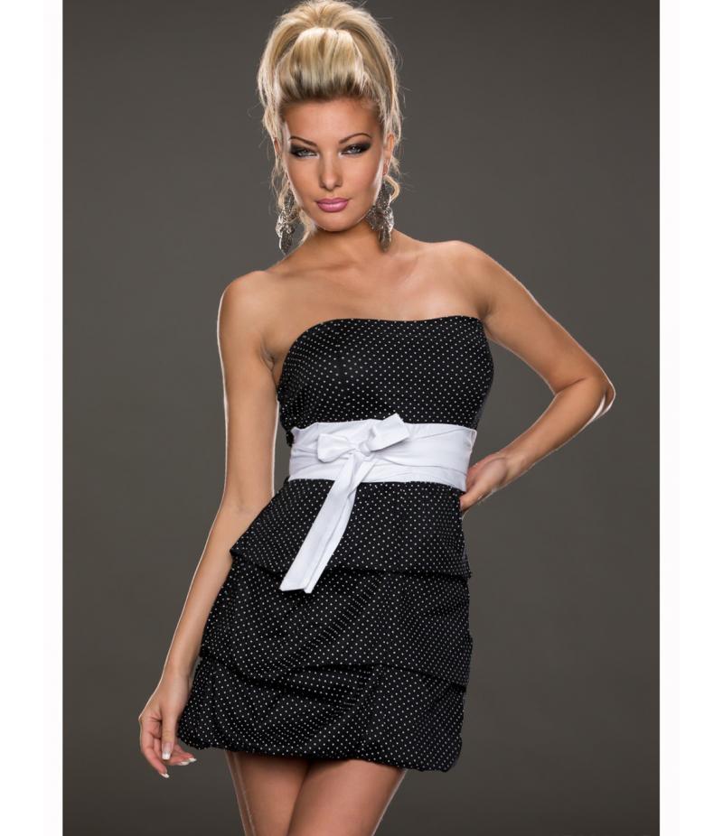 kleid pronto moda punkte schwarz weiss all dresses. Black Bedroom Furniture Sets. Home Design Ideas