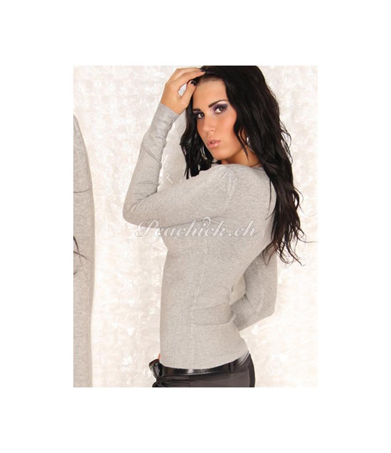 Pullover In Stylefashion Neckholder Grau Pullover
