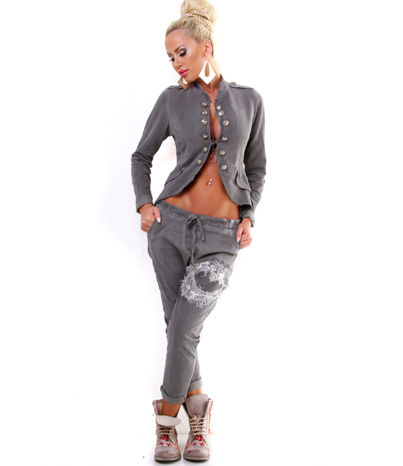 Hose 5people s paillettenherz beere trousers for Farbe beere