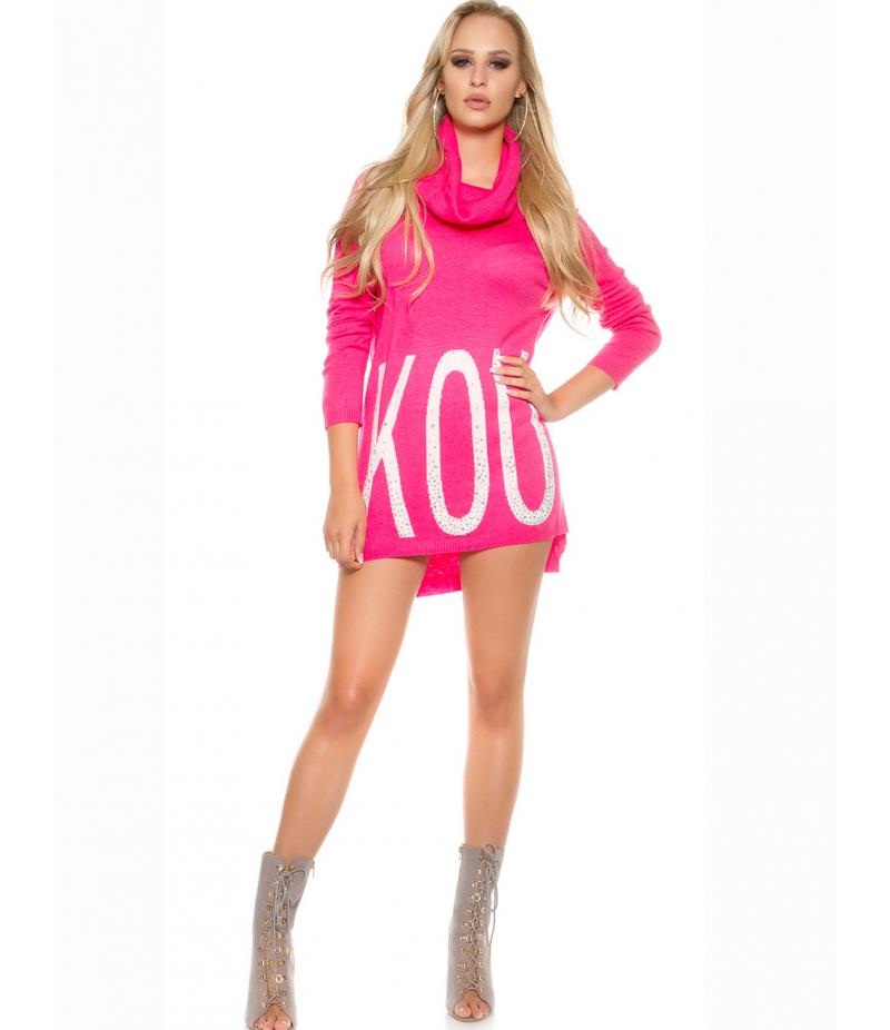 pullover koucla rollkragen pink sweaters. Black Bedroom Furniture Sets. Home Design Ideas