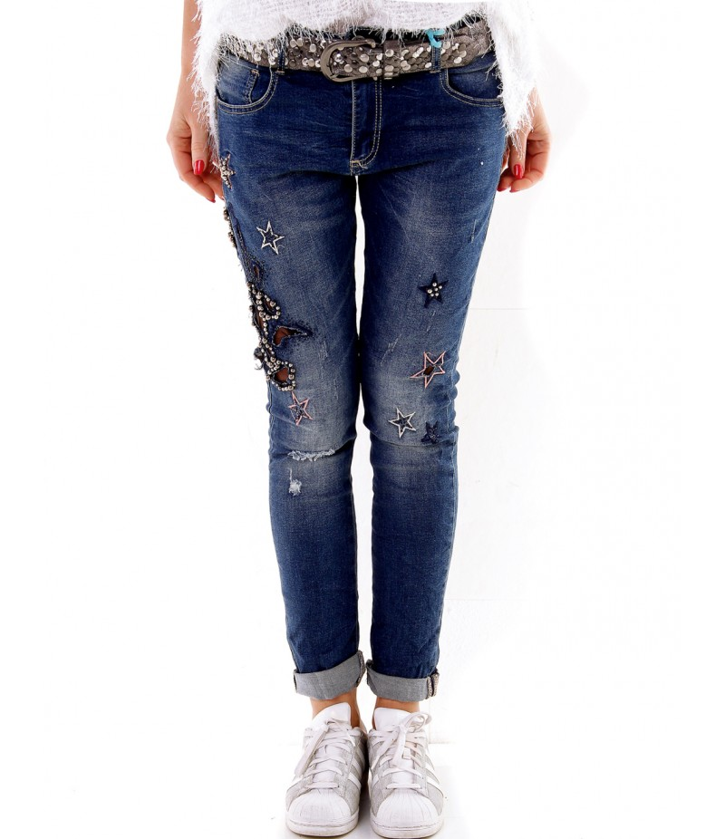 jeans federica sterne blau jeans. Black Bedroom Furniture Sets. Home Design Ideas