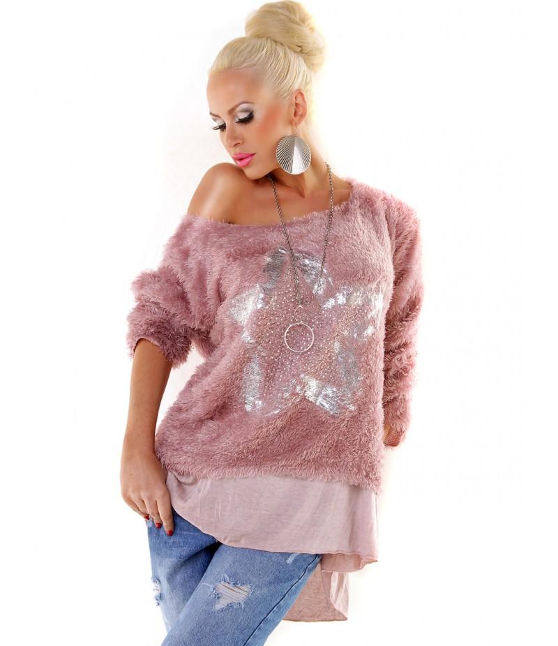 quality design 6d018 7ce13 Pullover Fashion - Kuschelpulli - Rosa