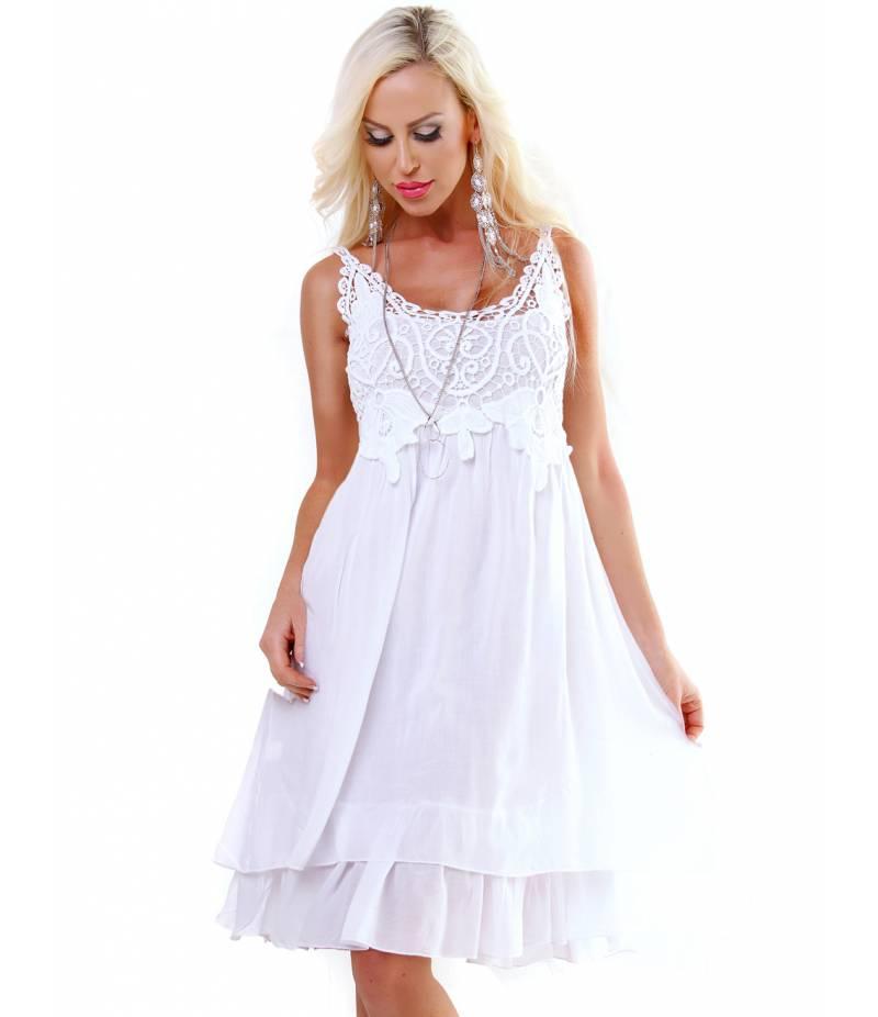 Kleid Bellina Lagenlook Weiss All Dresses