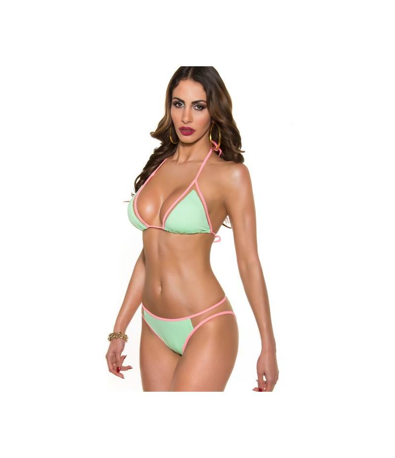wie man bestellt begehrteste Mode geschickte Herstellung Bikini In-Stylefashion - Netzeinsatz - Mint