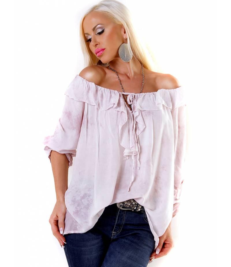 Bluse 5Star - Batik - Rosa Blusen 008156aa15