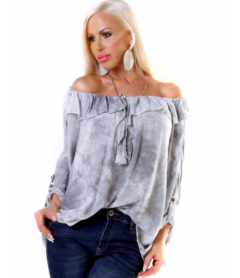 Bluse 5Star - Batik - Grau Blusen e3cade3550