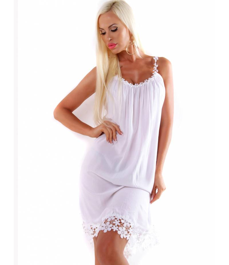 cheap for discount 1b5ac 413f0 Kleid 5People!S - Spitze - Weiss