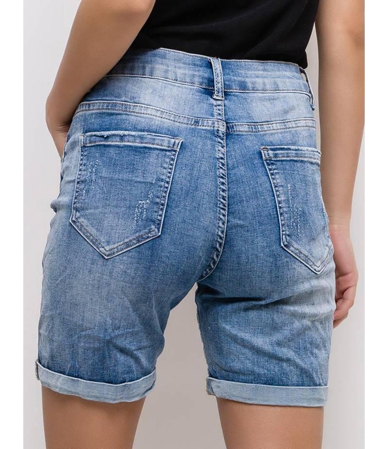 Kurze Jeans Monday Premium - Destroyed - Blau Kurze Jeans